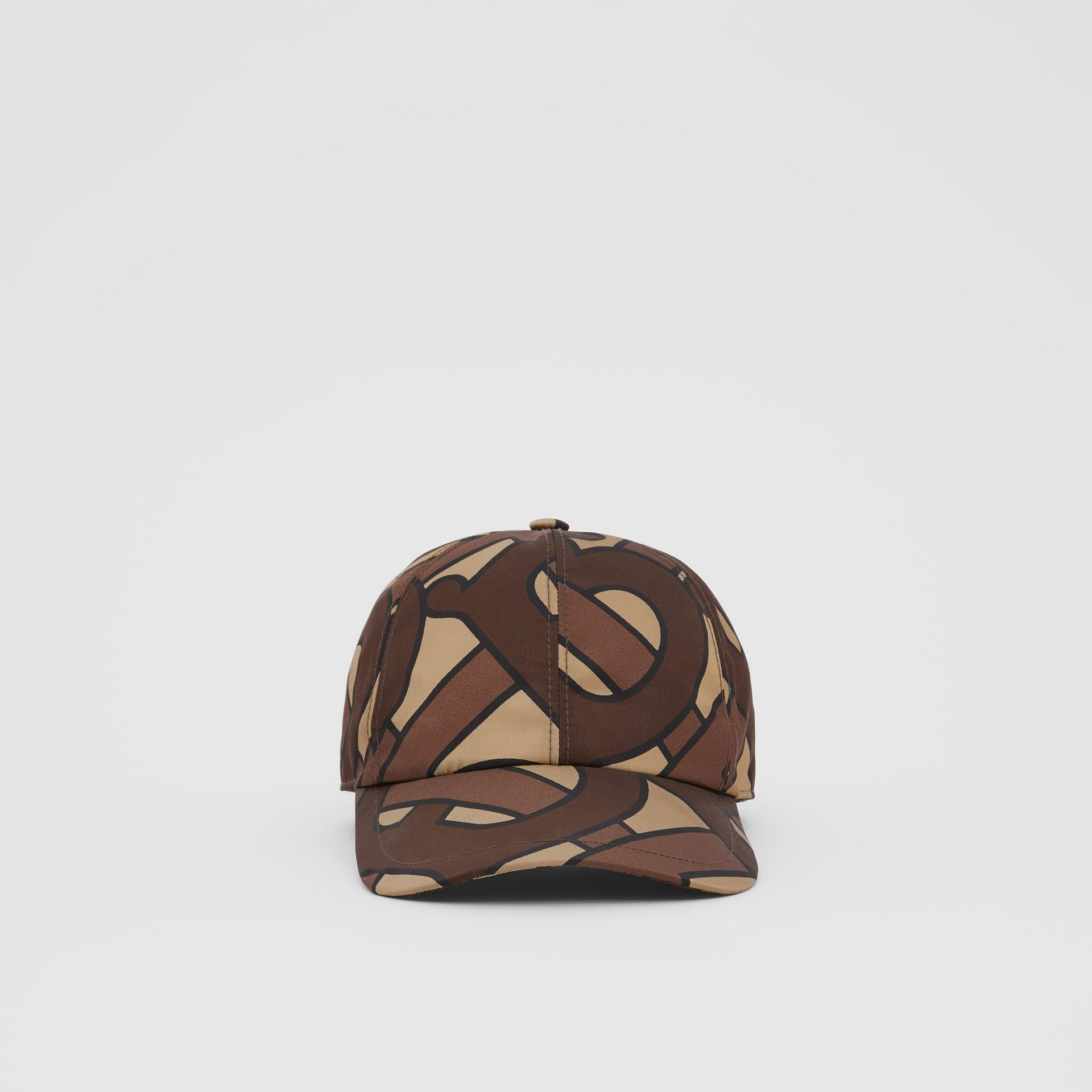 Monogram Print Baseball Cap in Bridle Brown | Burberry United Kingdom - gallery image 4