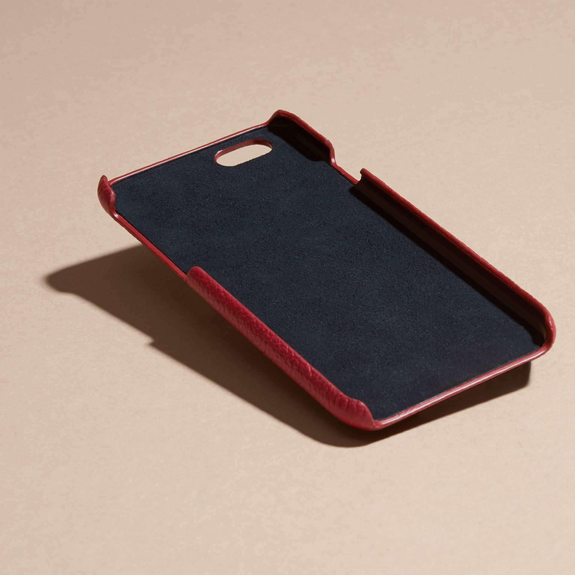 Grainy Leather iPhone 6 Case in Parade Red | Burberry Singapore - gallery image 4