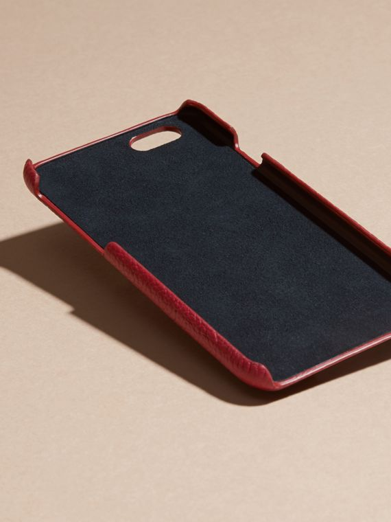 Grainy Leather iPhone 6 Case in Parade Red | Burberry - cell image 3