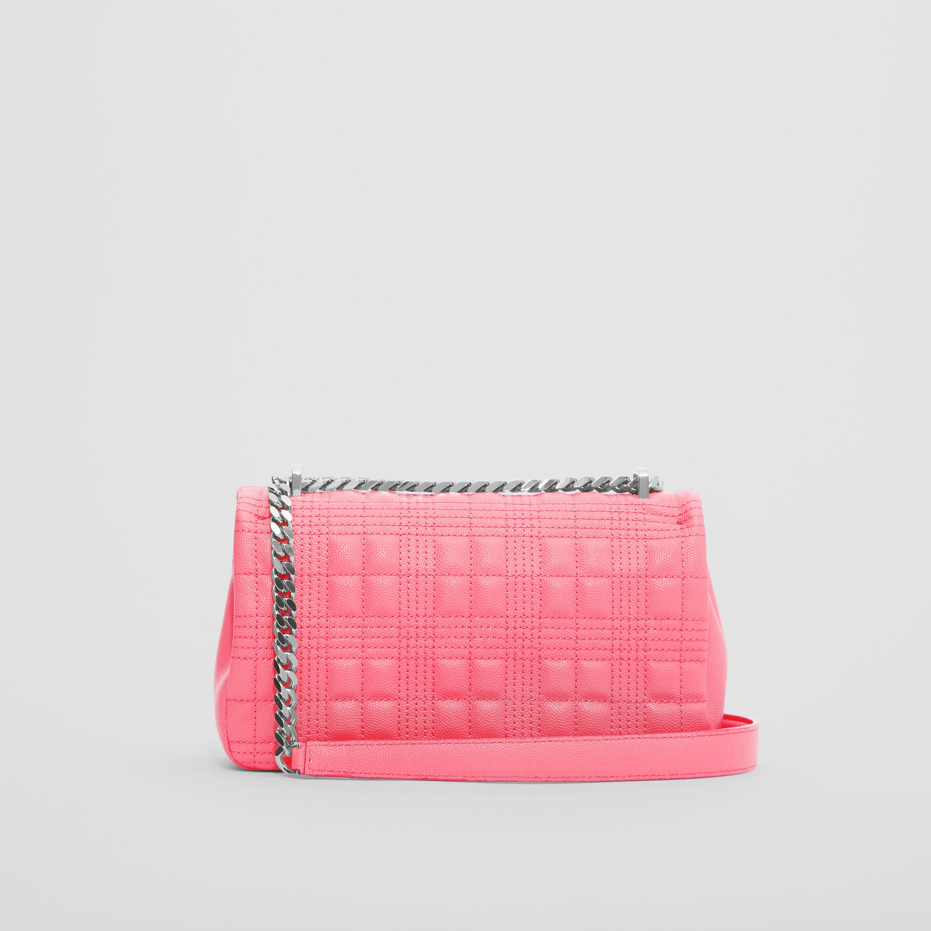 Small Quilted Grainy Leather Lola Bag in Candy Floss - Women | Burberry - gallery image 4