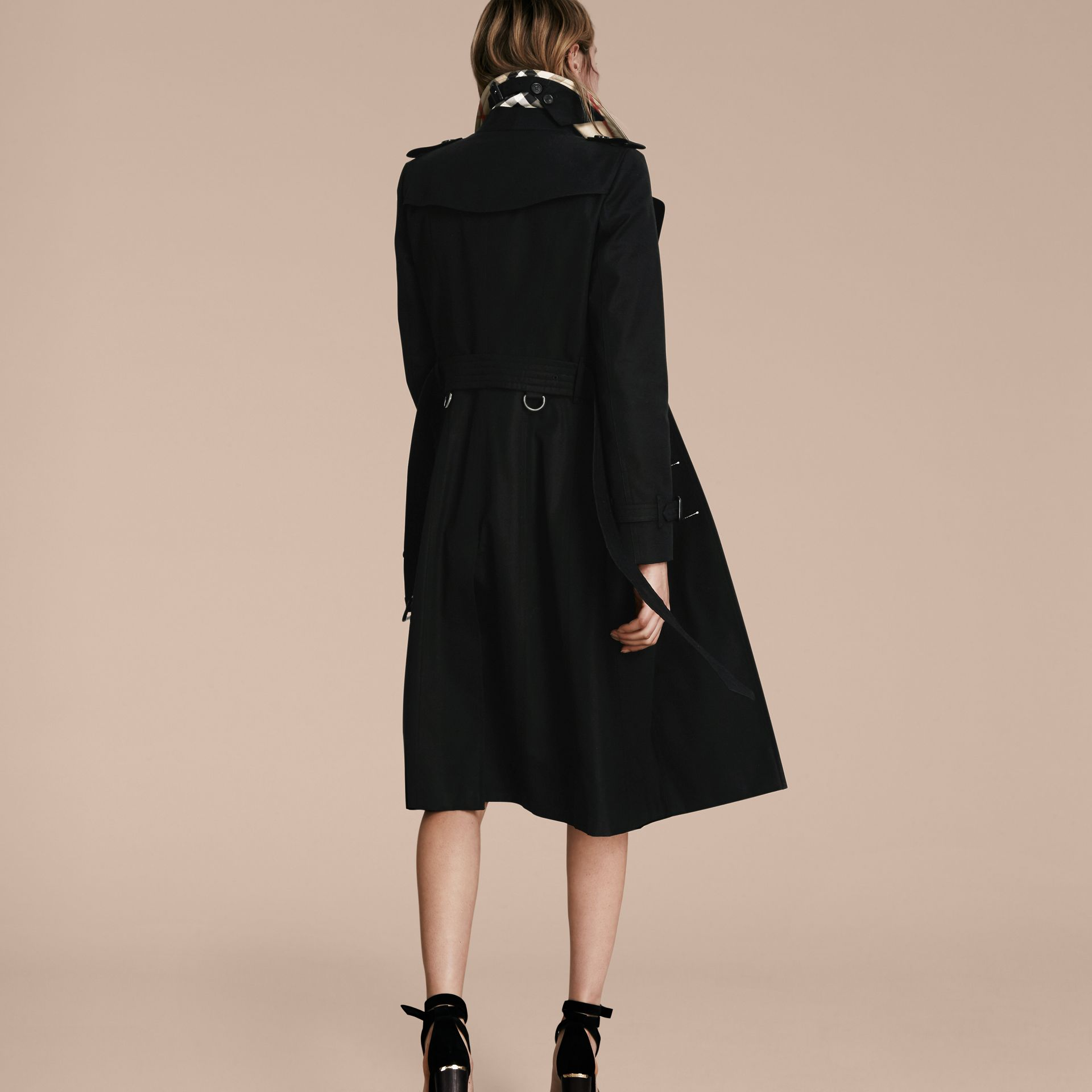 Black The Chelsea – Extra-long Heritage Trench Coat Black - gallery image 3