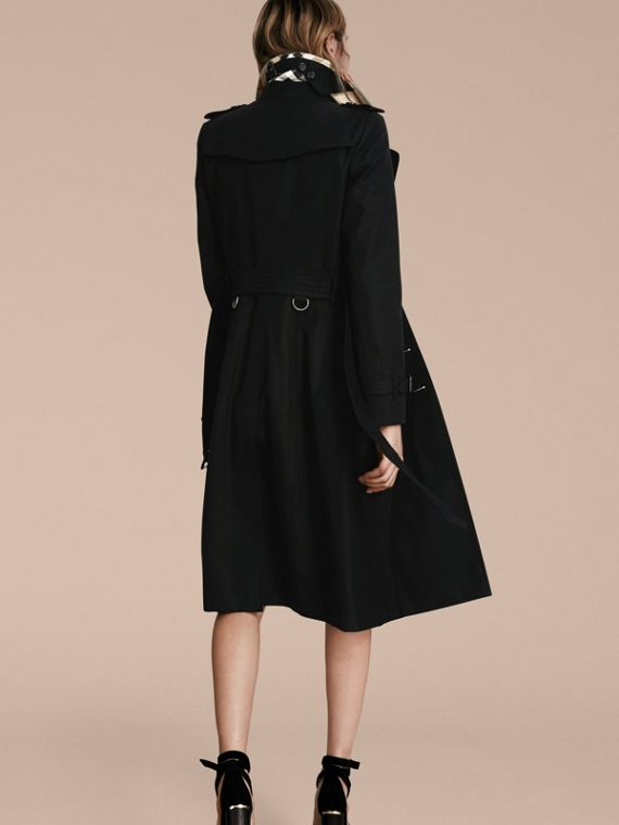 Black The Chelsea – Extra-long Heritage Trench Coat Black - cell image 2