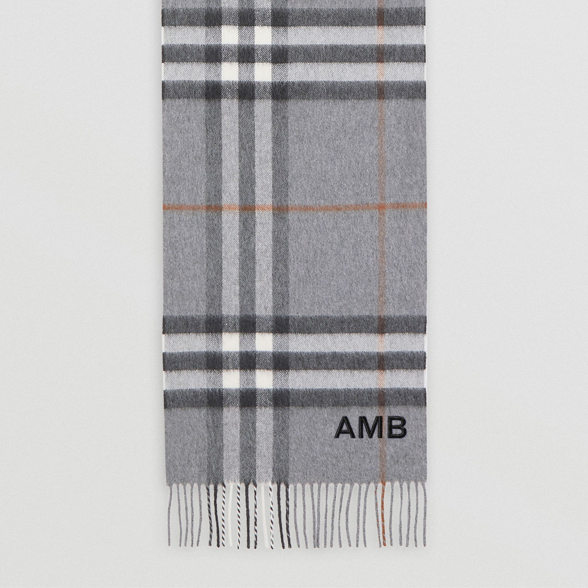 The Classic Check Cashmere Scarf in Grey | Burberry - gallery image 8
