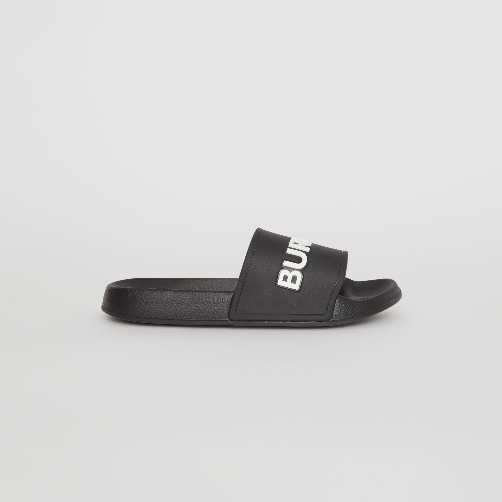 Kingdom Print Slides in Black/optic White - Children | Burberry - gallery image 3