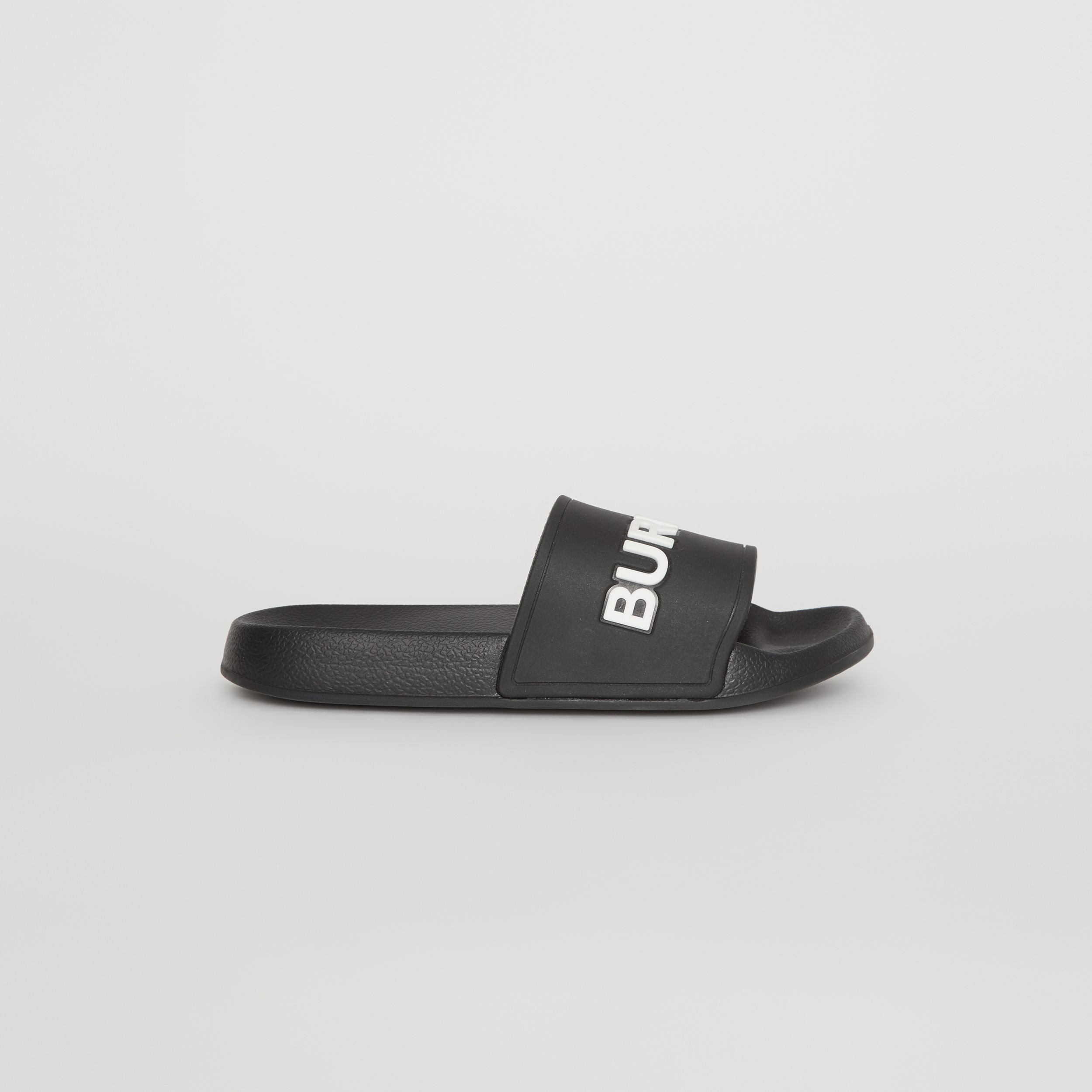 Kingdom Motif Slides in Black/optic White | Burberry - 4