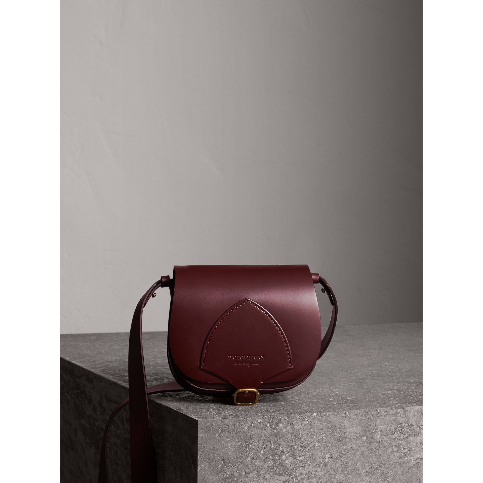 The Satchel in Bridle Leather in Deep Claret - Women | Burberry - gallery image 1
