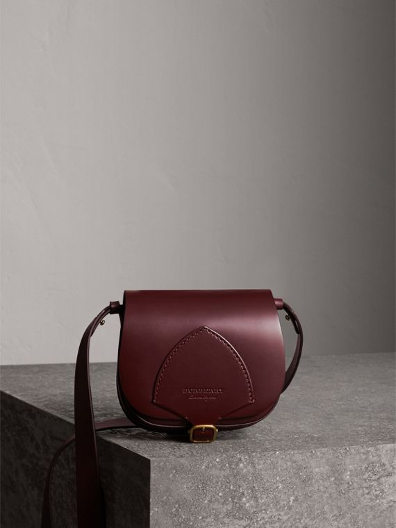 The Satchel in Bridle Leather in Deep Claret