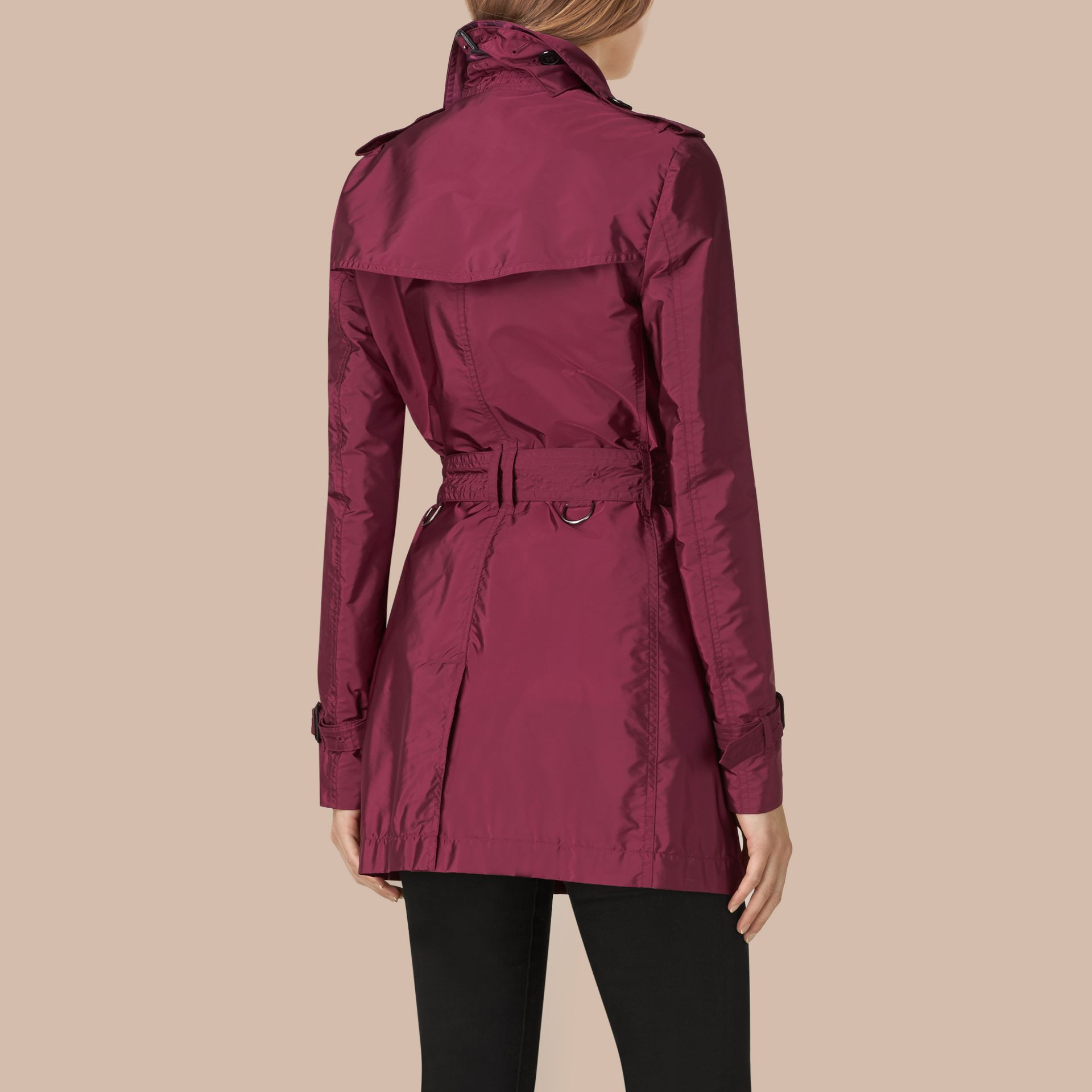 Berry pink Lightweight Trench Coat Berry Pink - gallery image 3