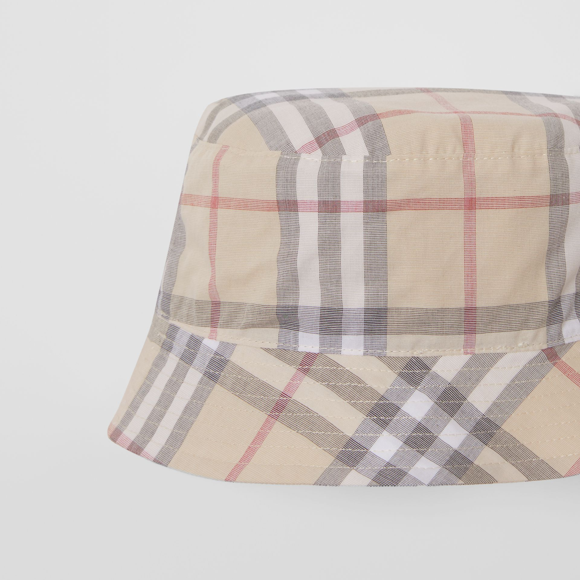 Vintage Check Cotton Three-piece Baby Gift Set in Pale Stone - Children | Burberry United States - gallery image 10