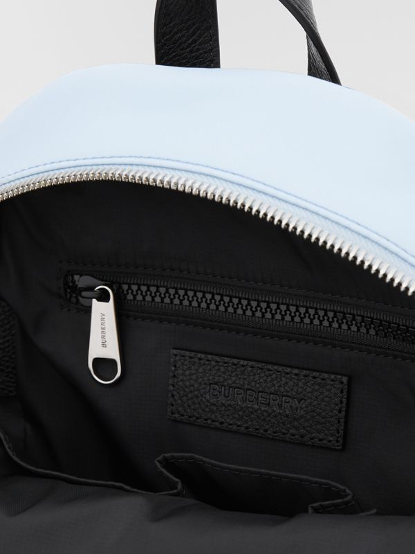 Logo Appliqué Icon Stripe ECONYL® Backpack in Pale Blue - Children | Burberry United Kingdom - cell image 3