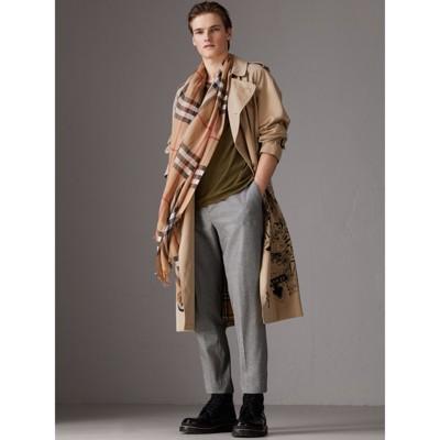 Burberry - Écharpe légère en laine et soie à motif check - 4
