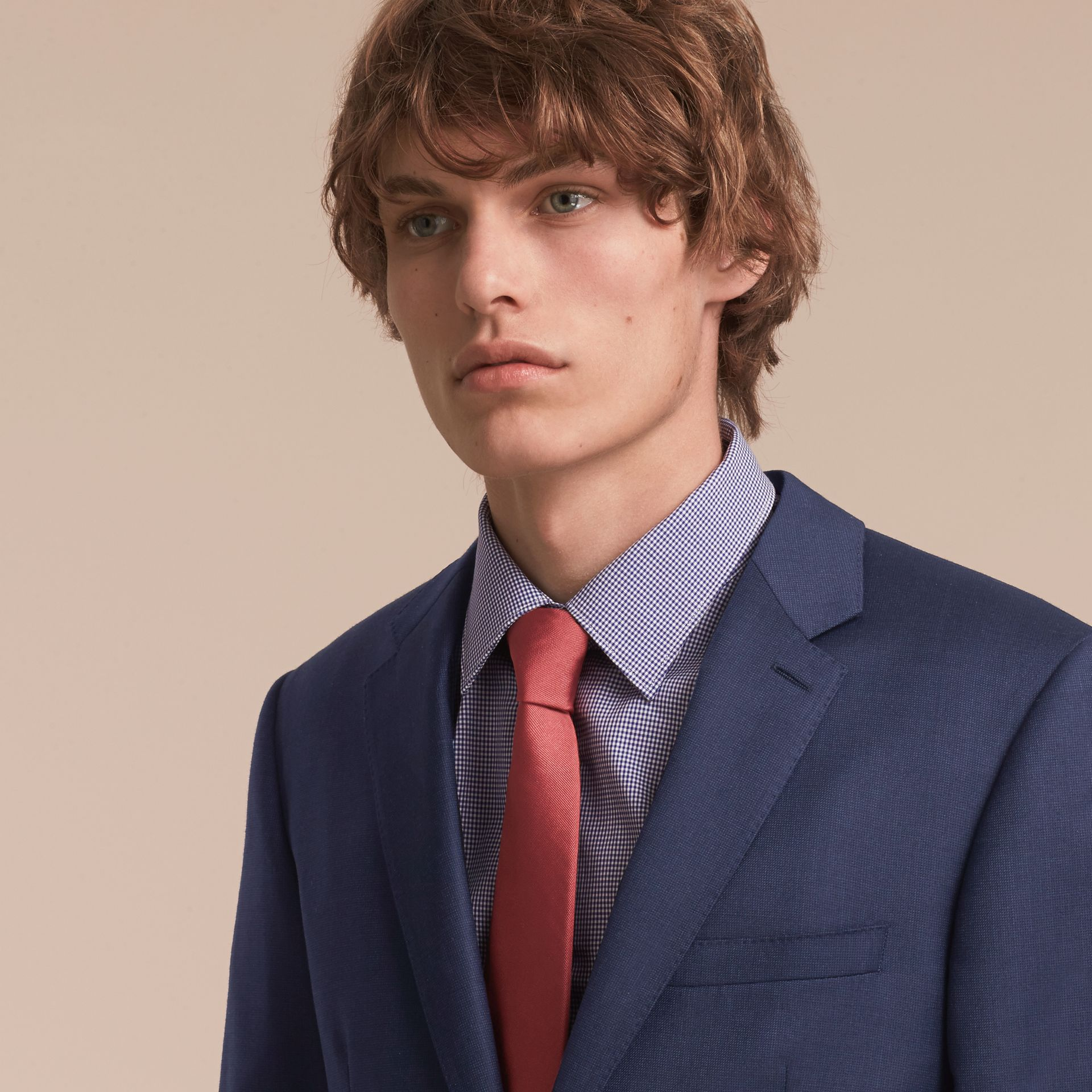 Modern Cut Silk Twill Tie in Bright Rose - Men | Burberry - gallery image 3