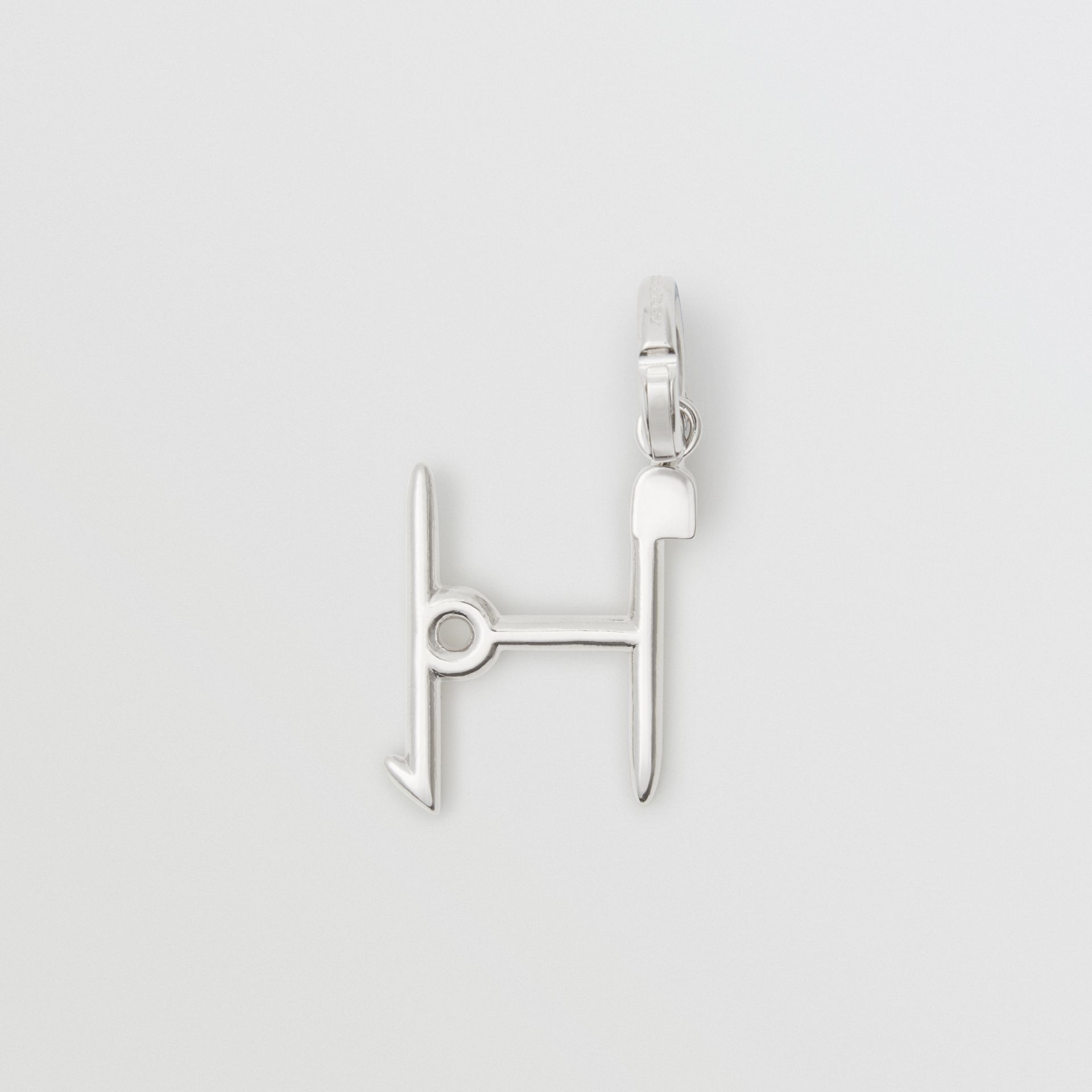 Kilt Pin 'H' Alphabet Charm in Palladio - Women | Burberry - gallery image 3