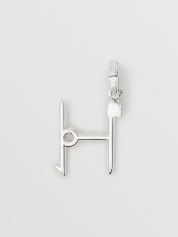 Kilt Pin 'H' Alphabet Charm in Palladio - Women | Burberry - cell image 3