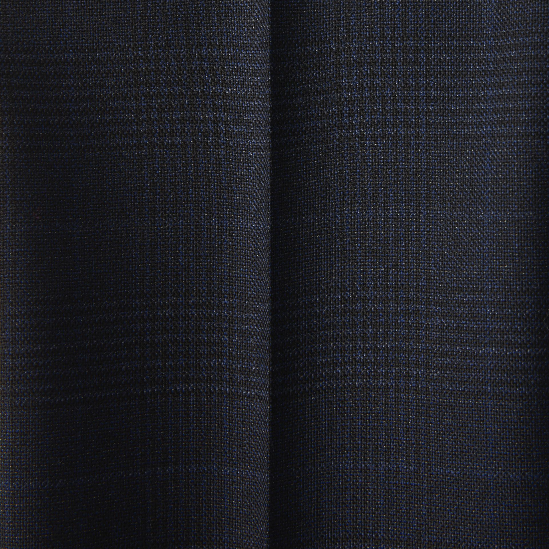 Prince of Wales Check Wool Tailored Trousers in Bright Navy | Burberry Canada - gallery image 1