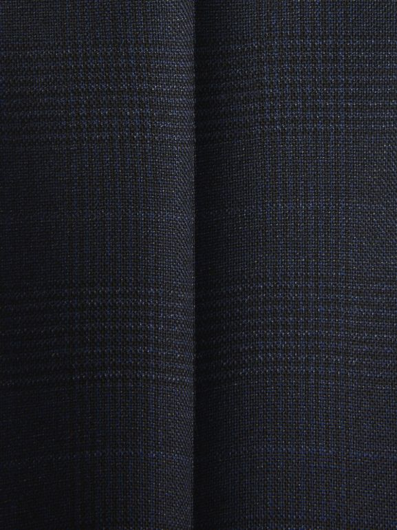Prince of Wales Check Wool Tailored Trousers in Bright Navy | Burberry Hong Kong - cell image 1