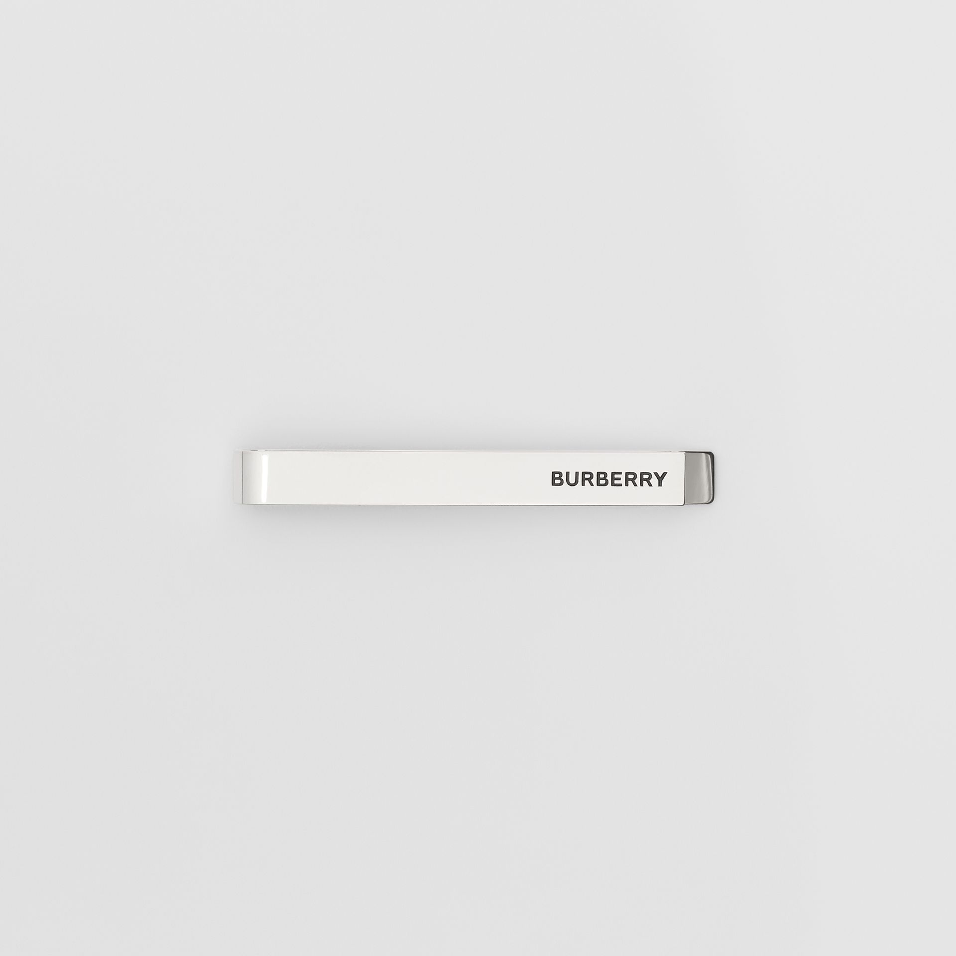 Engraved Silver-plated Tie Bar - Men | Burberry United States - gallery image 0