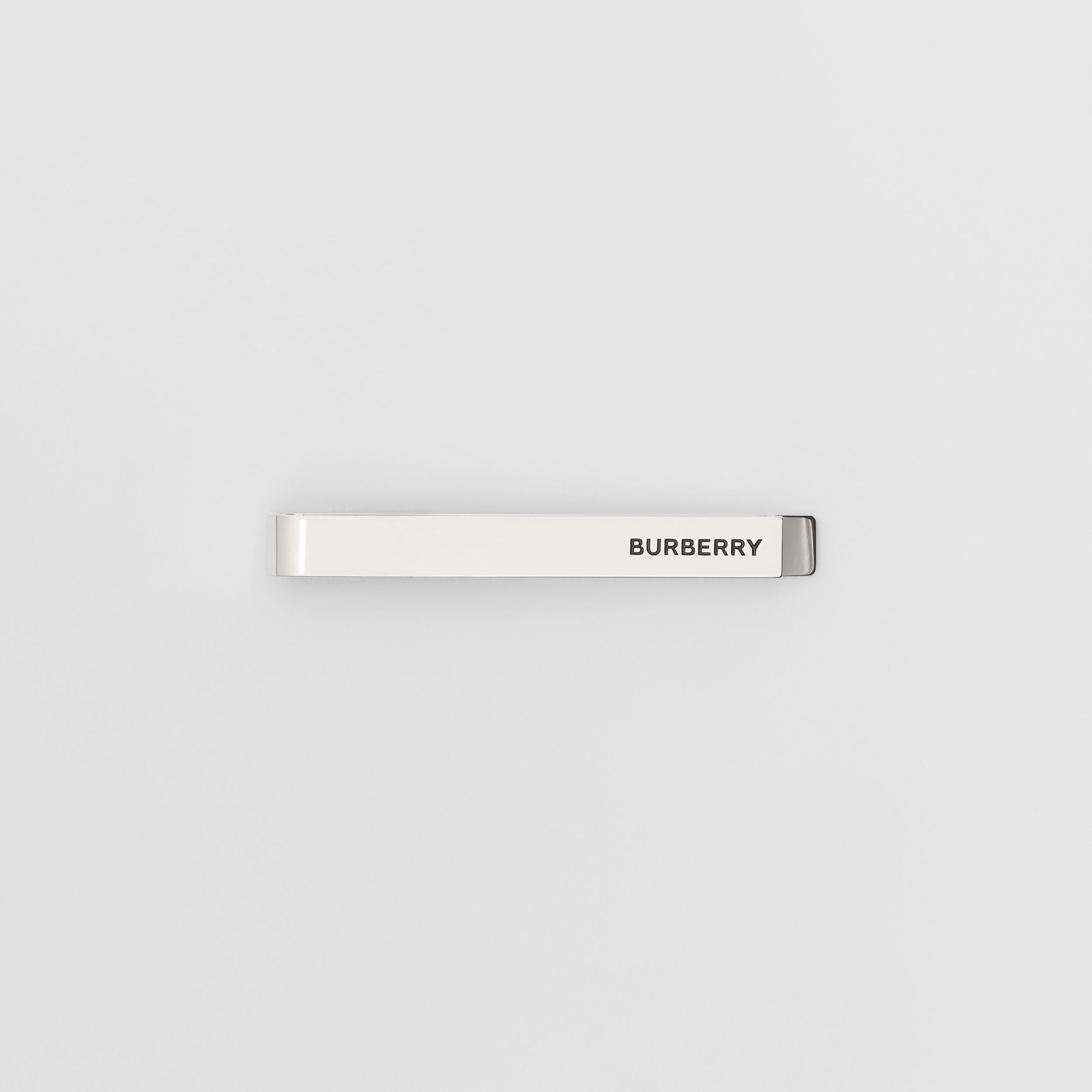 Engraved Silver-plated Tie Bar - Men | Burberry - 1