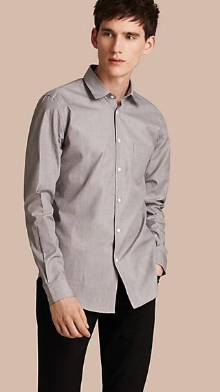 Mélange Cotton Shirt