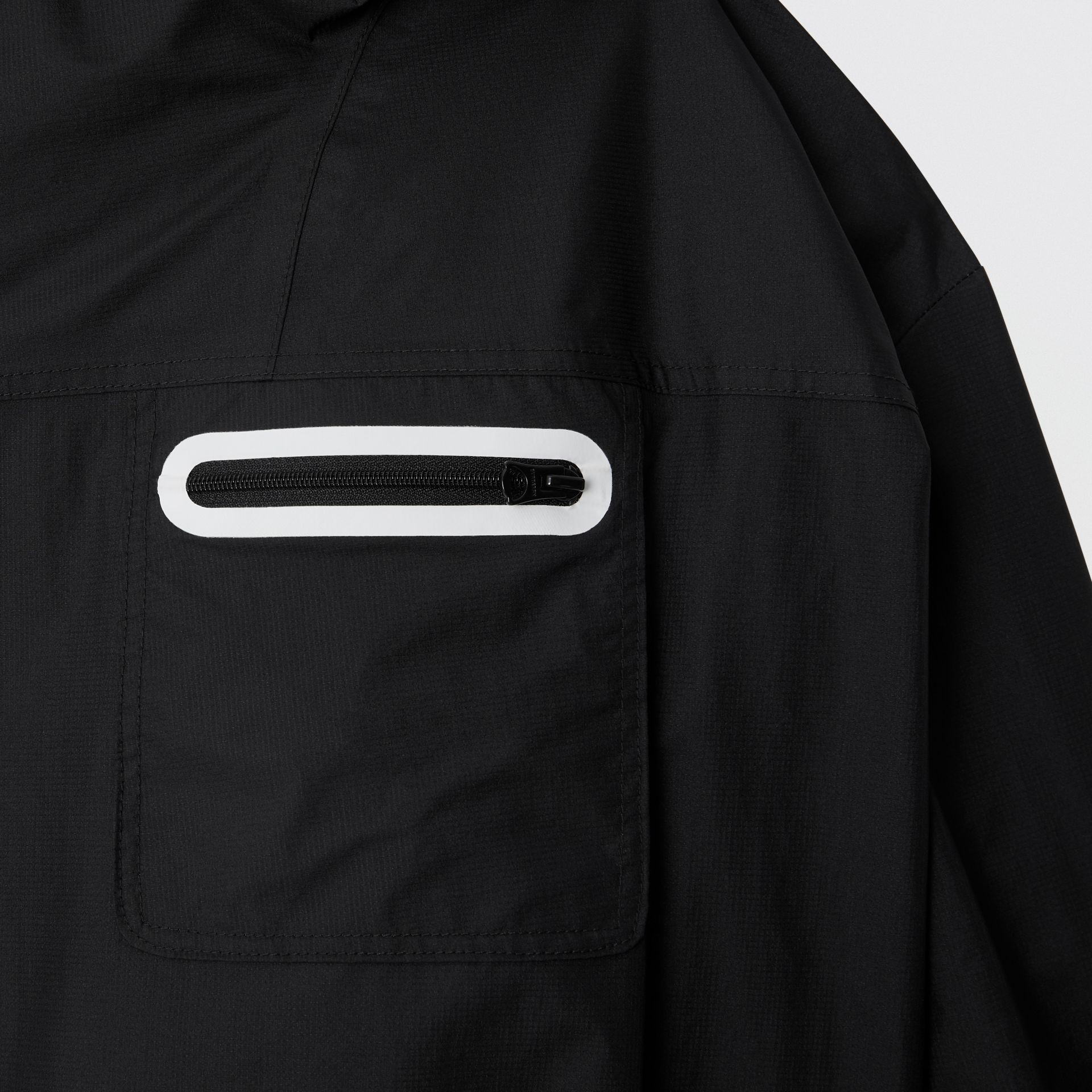 Logo Print Nylon Hooded Jacket in Black | Burberry Canada - gallery image 5