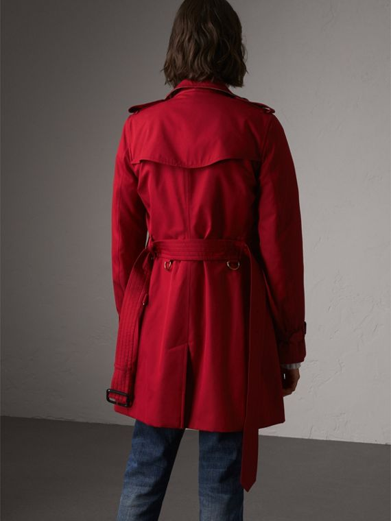 The Kensington – Mid-Length Heritage Trench Coat in Parade Red - Women | Burberry - cell image 2