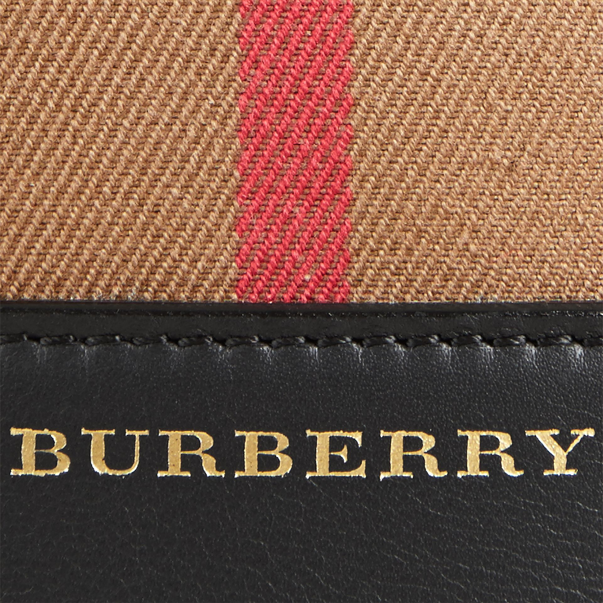 Noir Petit sac Burberry Bucket en coton House check et cuir - photo de la galerie 2
