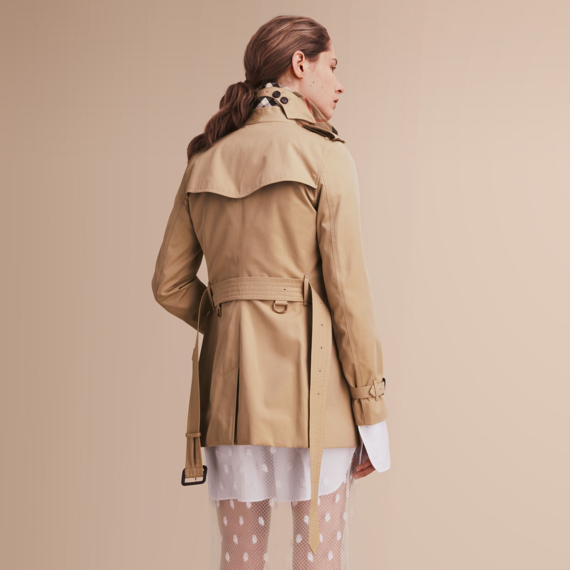 The Kensington – Short Heritage Trench Coat in Honey - gallery image 3