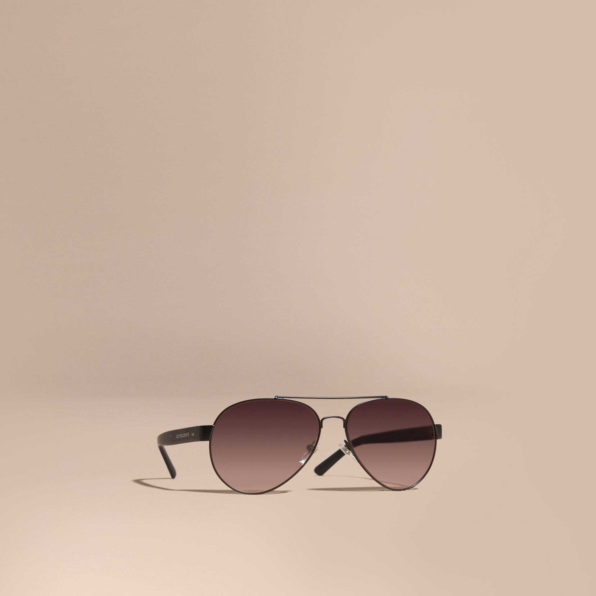 Black Aviator Sunglasses Black - gallery image 1