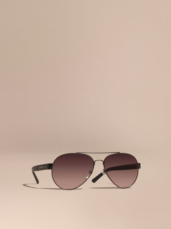 Pilot Sunglasses in Black - Men | Burberry Singapore