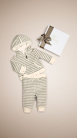 Velour Stripe Two-Piece Set