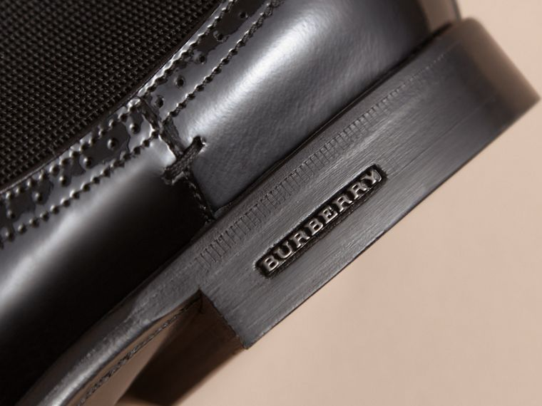 Polished Leather Chelsea Boots in Black - Men | Burberry - cell image 1