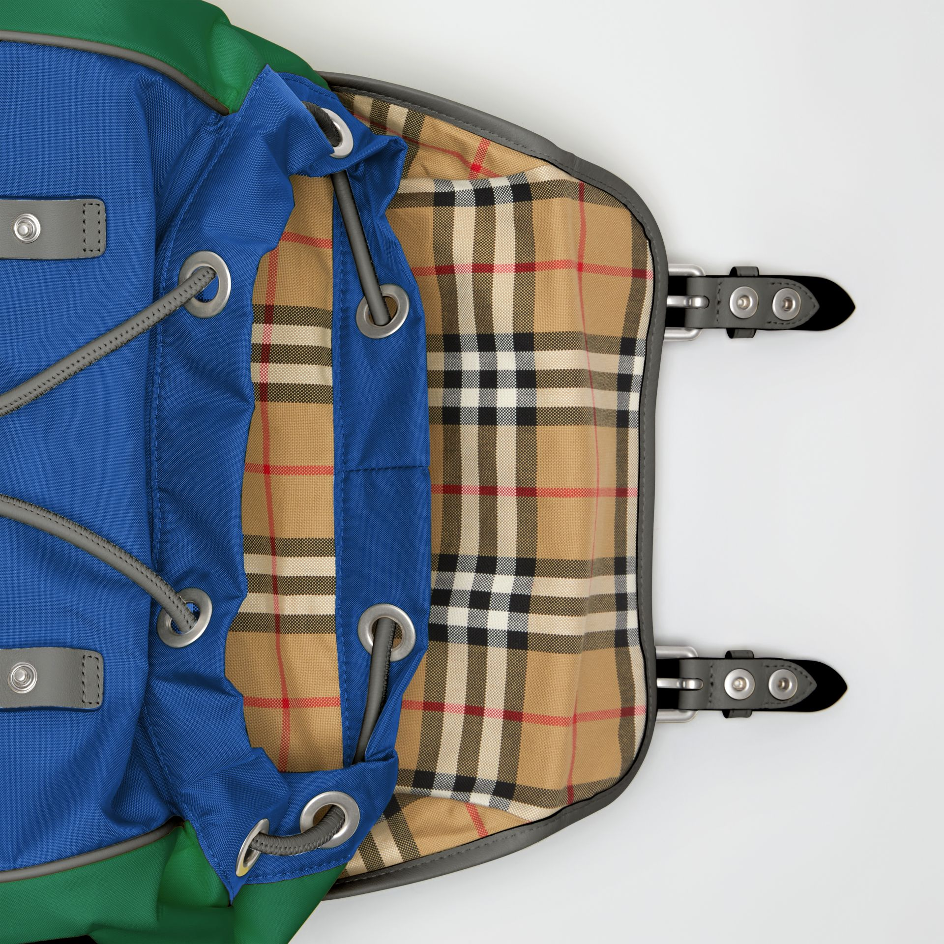 Tri-tone Nylon and Leather Backpack in Dark Canvas Blue - Men | Burberry - gallery image 3