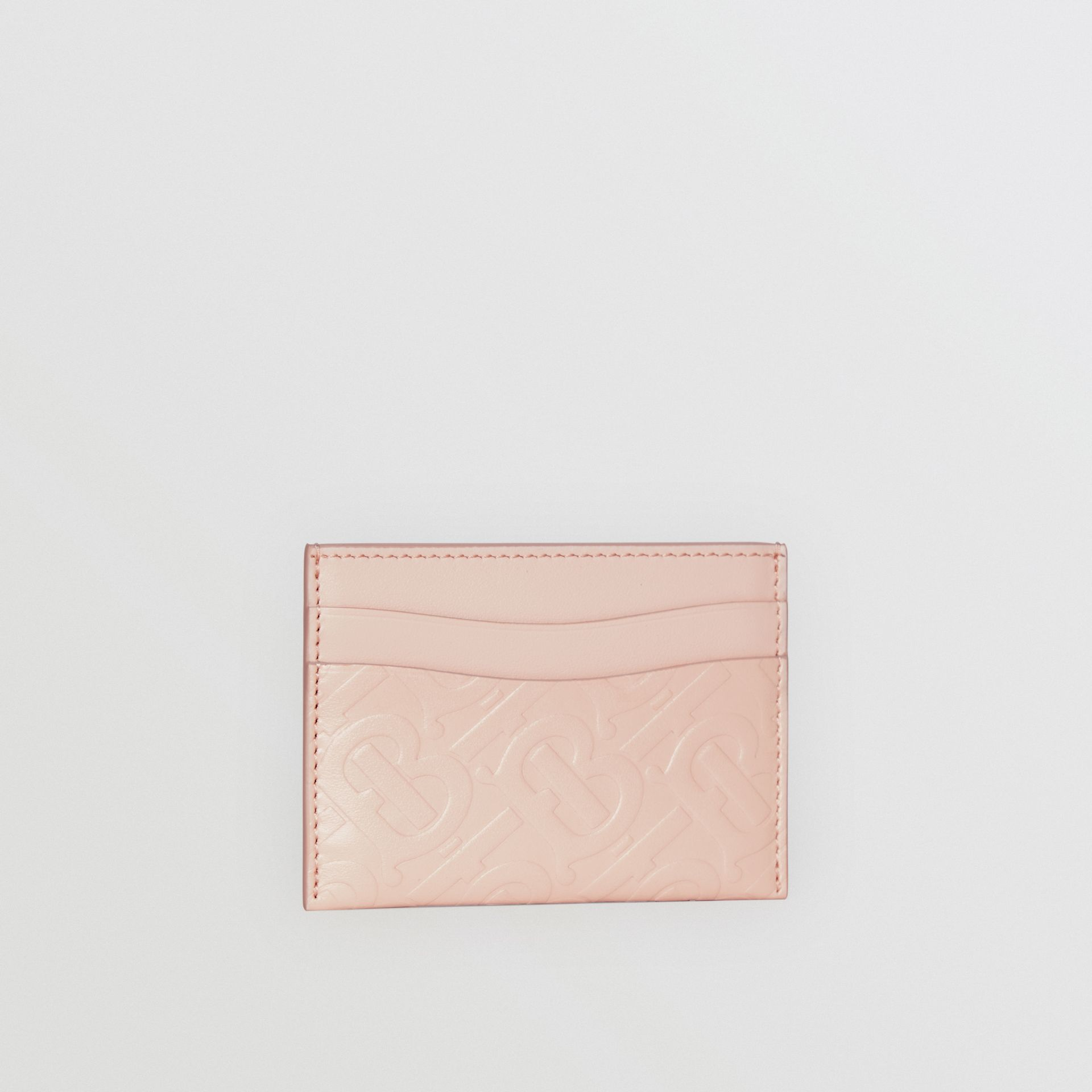 Monogram Leather Card Case in Rose Beige - Women | Burberry United Kingdom - gallery image 3