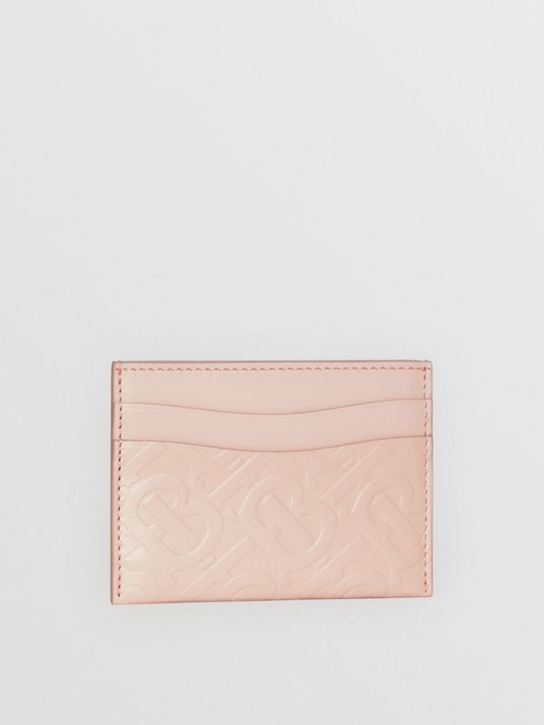 Monogram Leather Card Case in Rose Beige - Women | Burberry United Kingdom - cell image 3