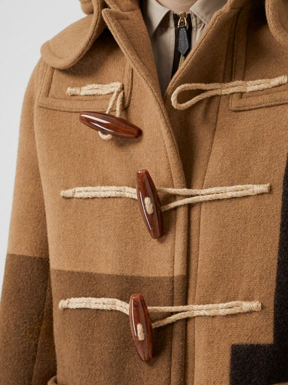 Panelled Wool Duffle Coat in Warm Camel - Men | Burberry Australia - cell image 1