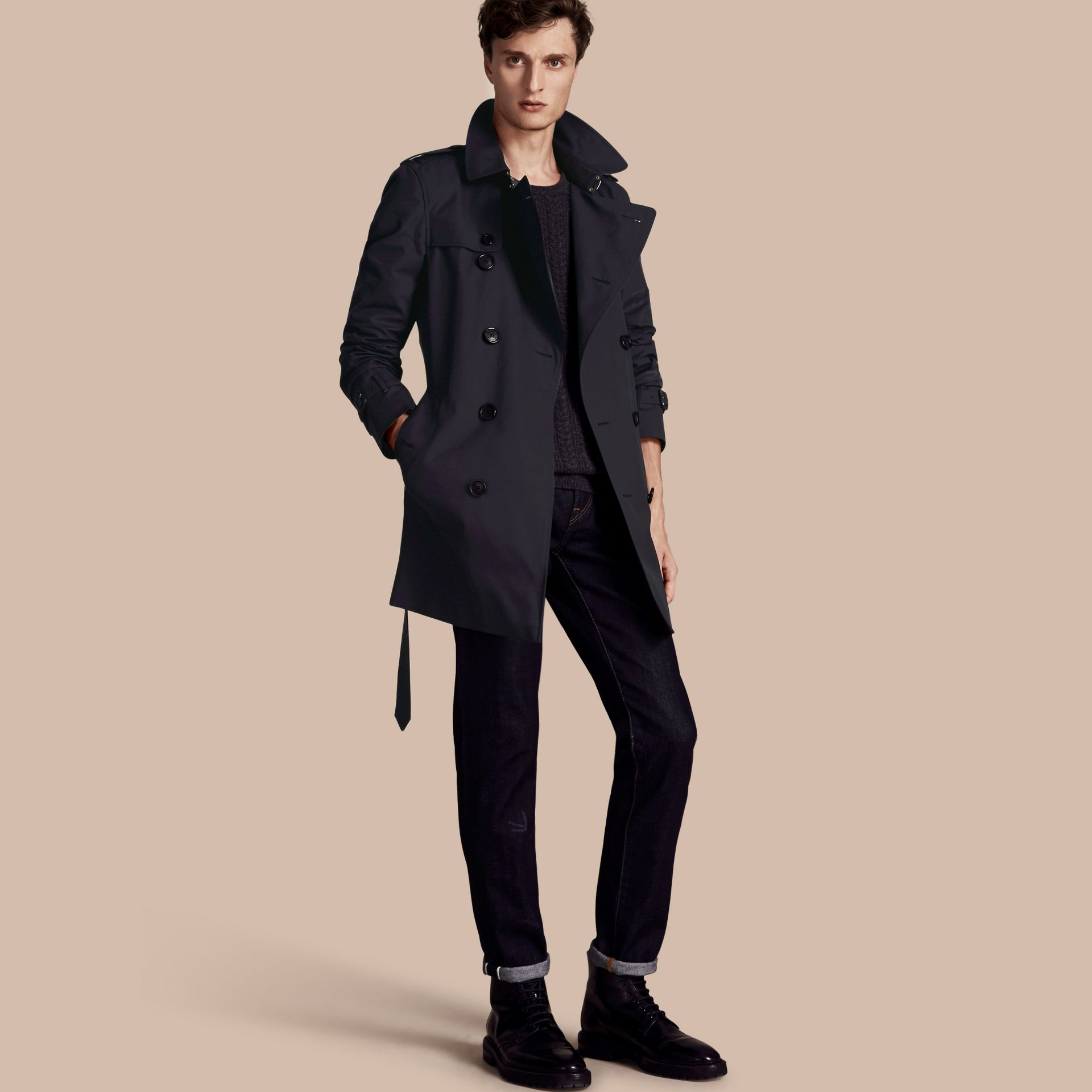Navy The Kensington - Trench coat Heritage medio Navy - immagine della galleria 1
