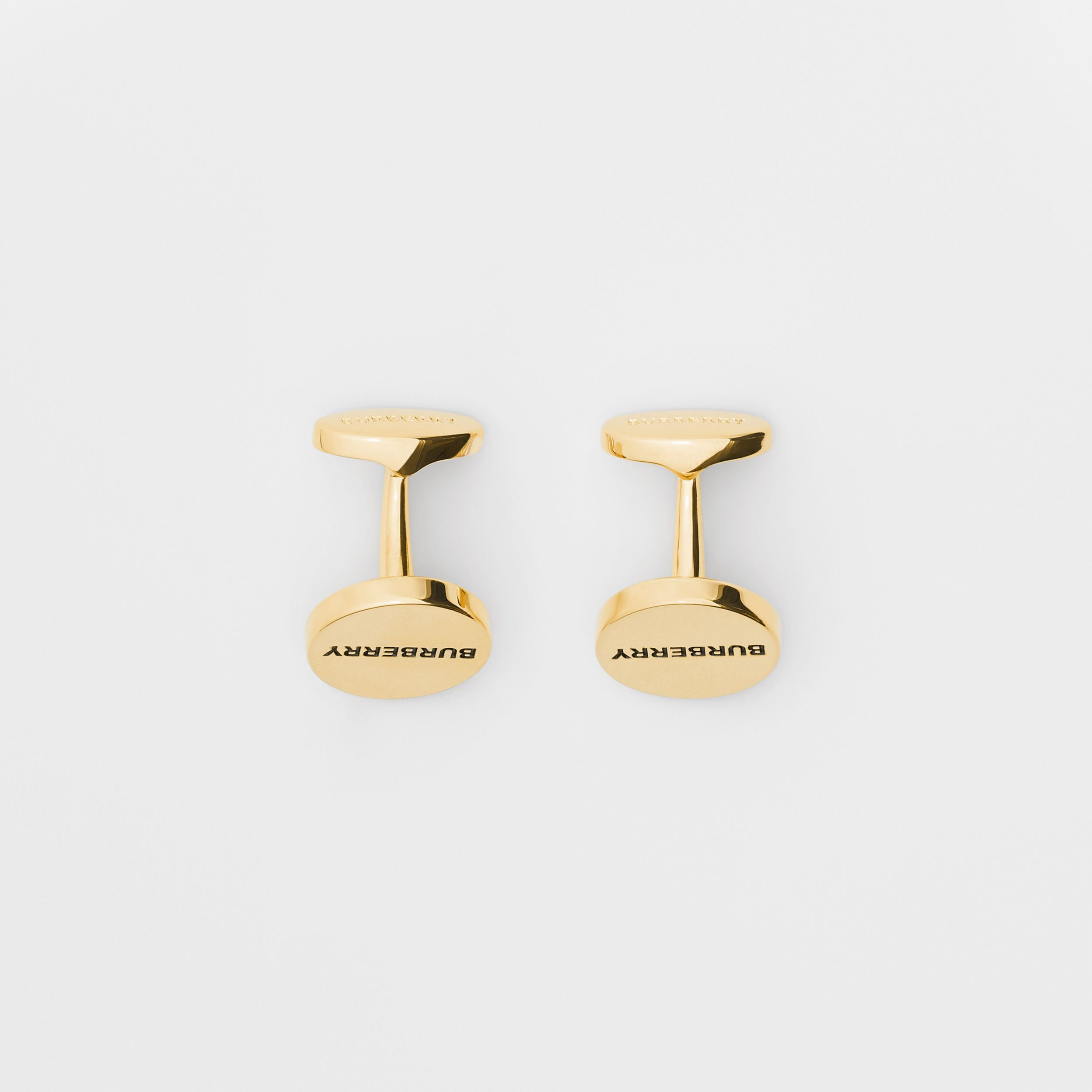 Engraved Gold-plated Cufflinks in Light - Men | Burberry - 3