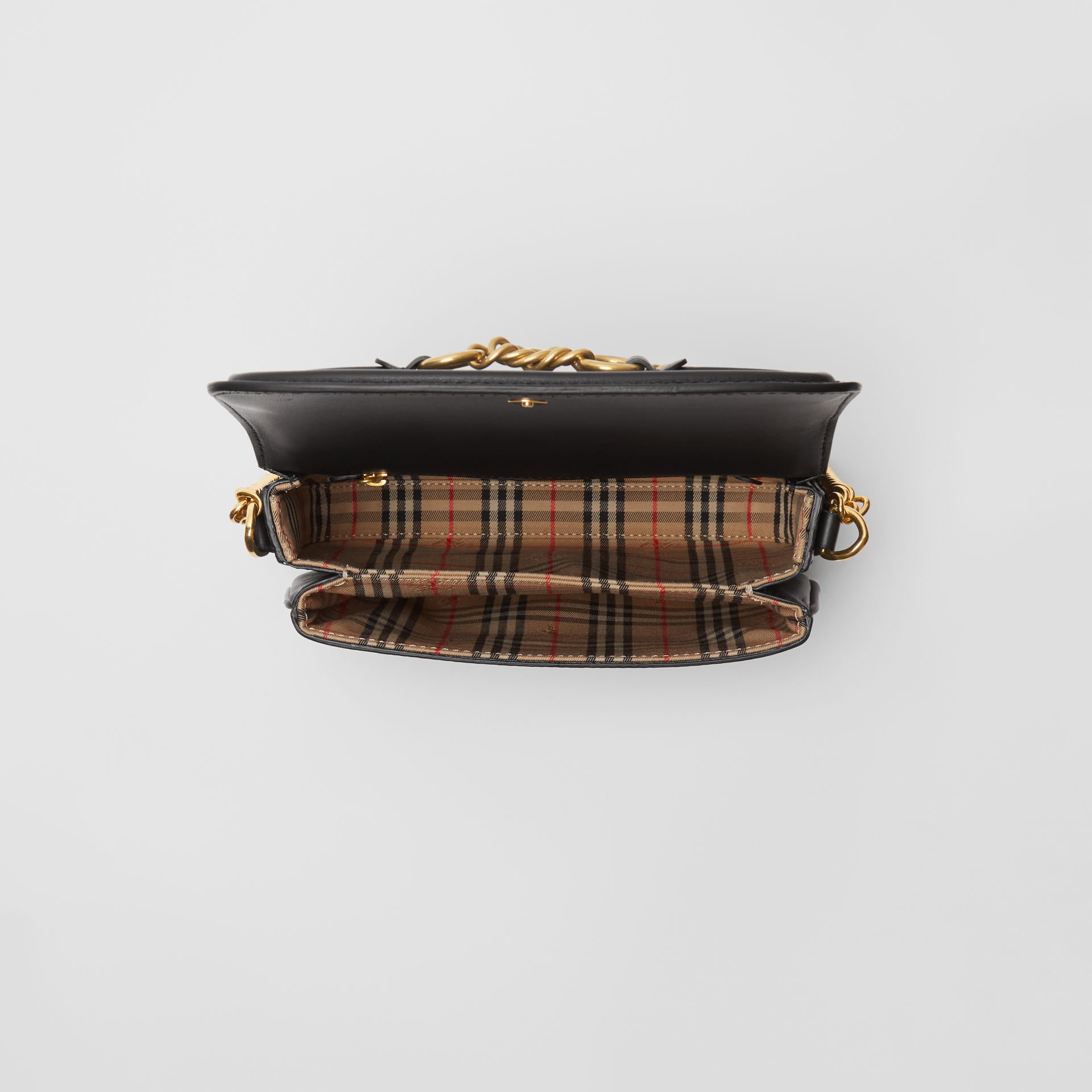 Sac The Link en cuir (Noir) - Femme | Burberry Canada - photo de la galerie 4