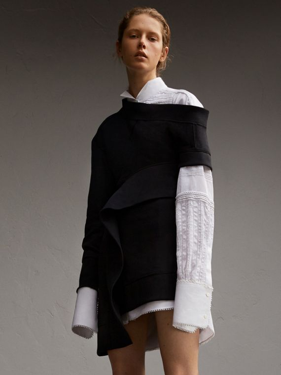 Robe sweat-shirt asymétrique