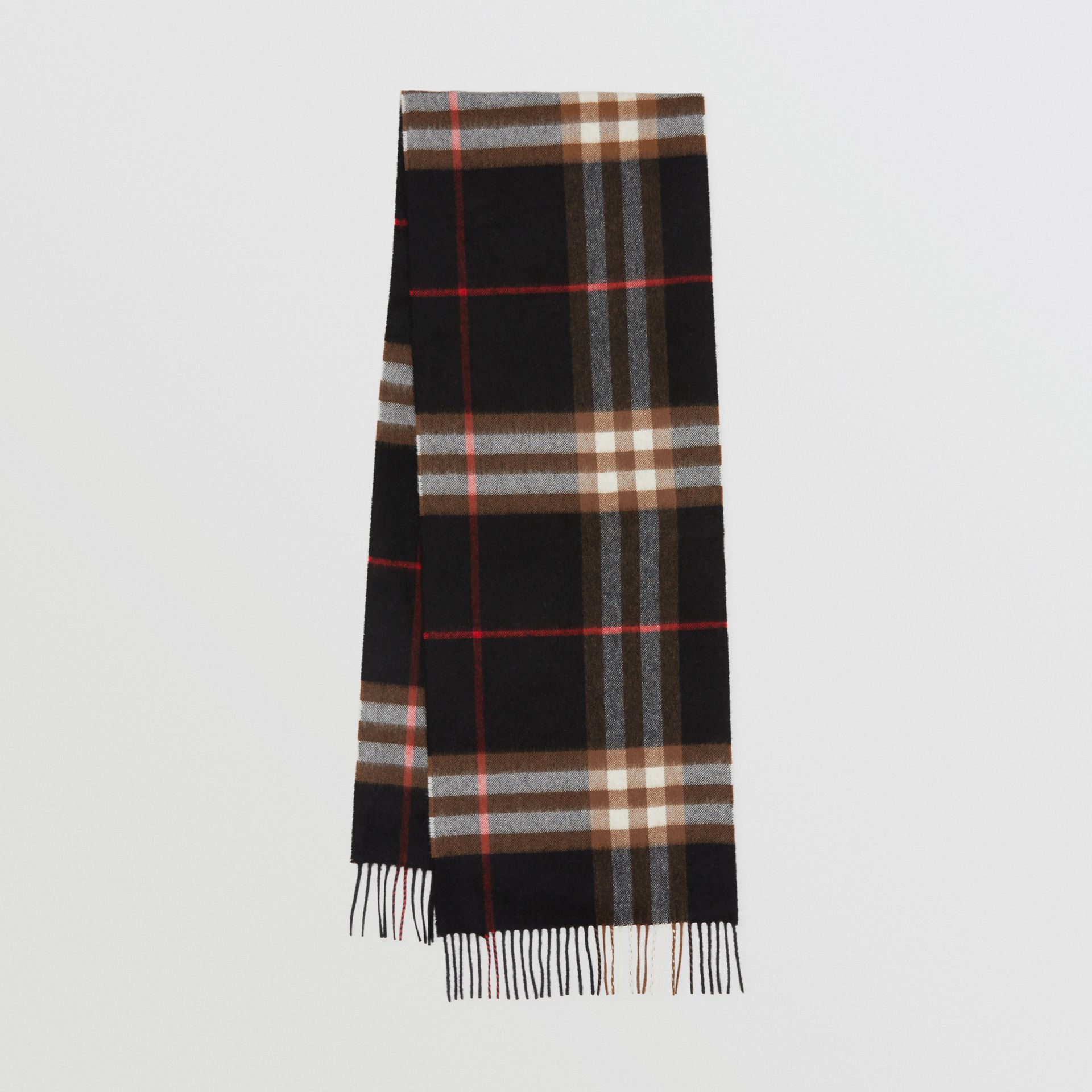 The Classic Check Cashmere Scarf in Indigo/mid Camel | Burberry - gallery image 0