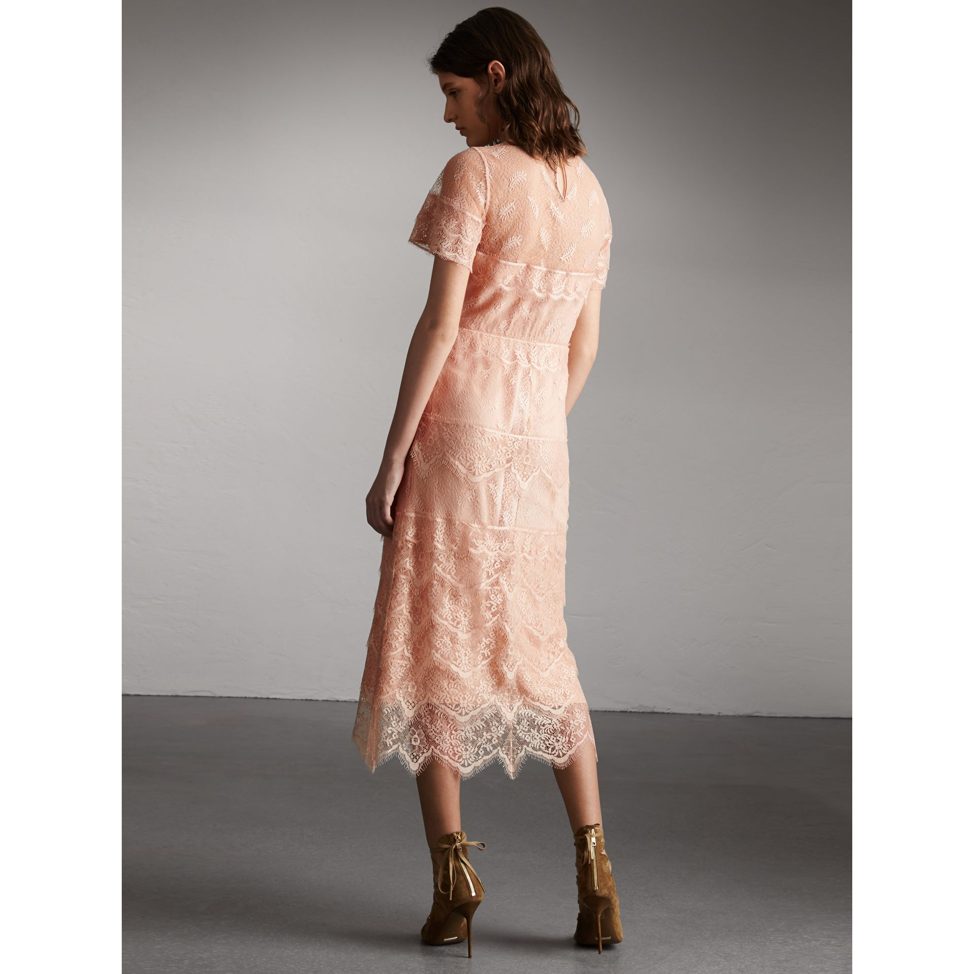 Tiered Lace Shift Dress - Women | Burberry - gallery image 3