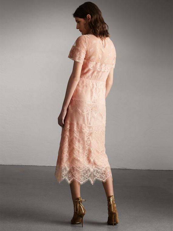 Tiered Lace Shift Dress - Women | Burberry - cell image 2