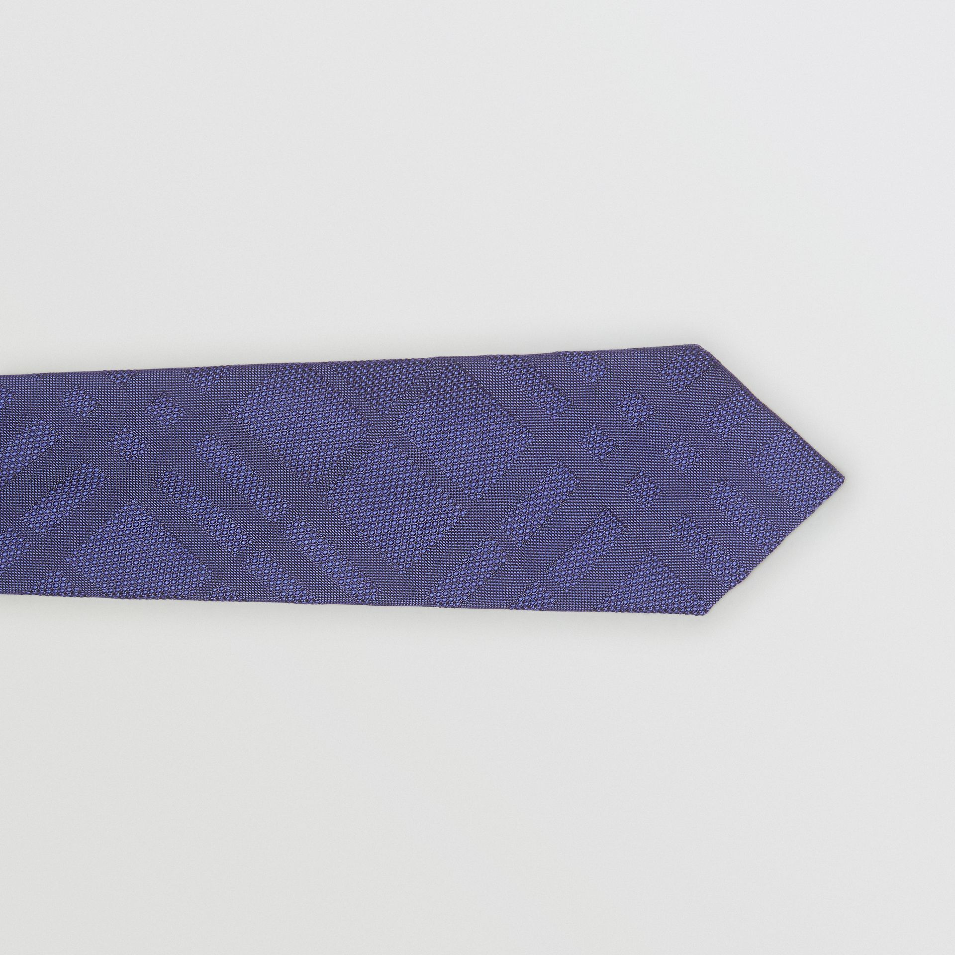 Classic Cut Check Silk Jacquard Tie in Blue - Men | Burberry - gallery image 1