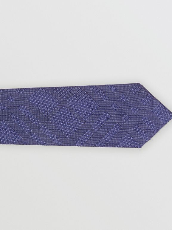 Classic Cut Check Silk Jacquard Tie in Blue - Men | Burberry Singapore - cell image 1