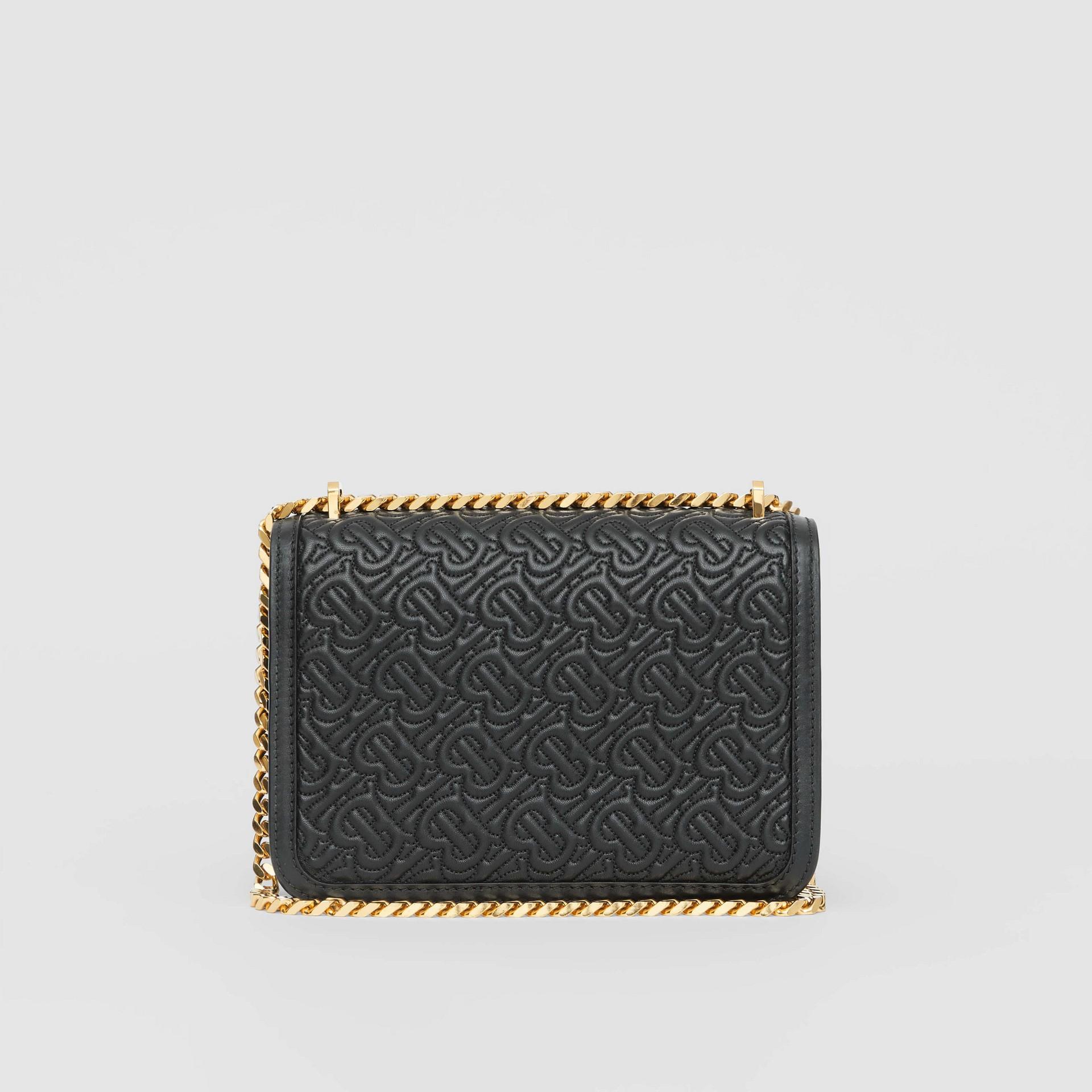 Bolsa TB de couro de cordeiro com monograma - Pequena (Preto) - Mulheres | Burberry - galeria de imagens 6