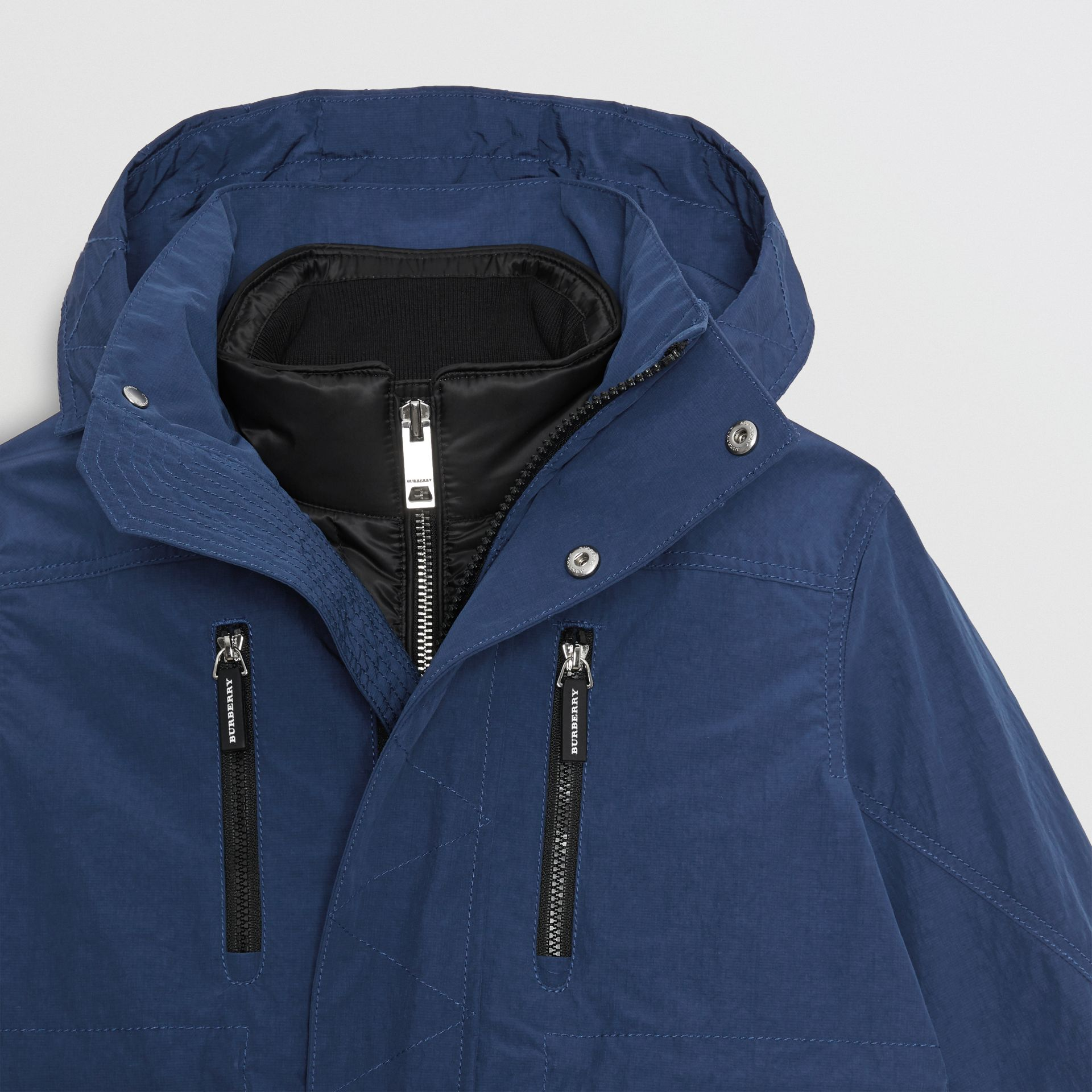 Hooded Parka with Down-filled Quilted Jacket in Bright Navy | Burberry Singapore - gallery image 5