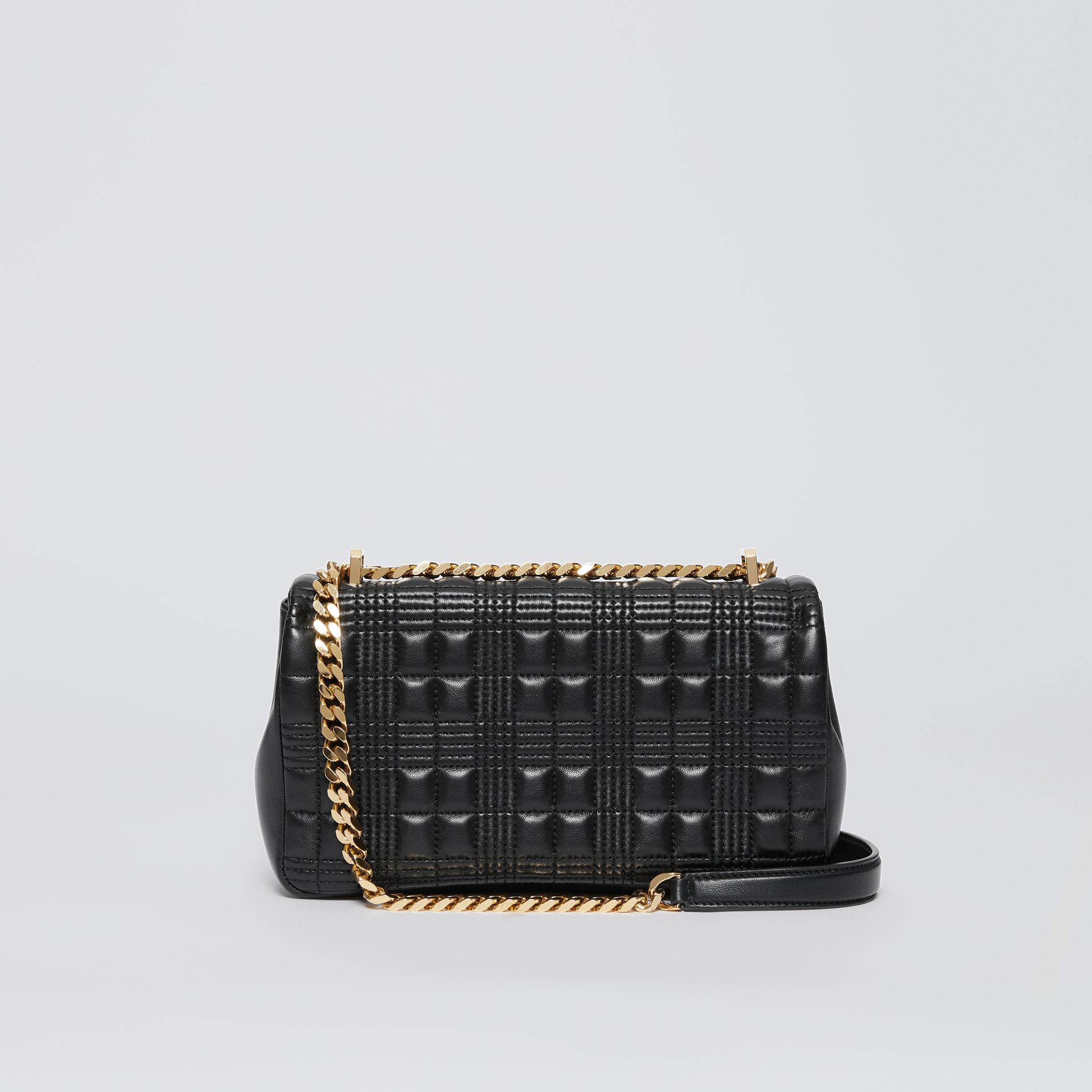 Small Quilted Check Lambskin Lola Bag in Black - Women | Burberry - gallery image 6
