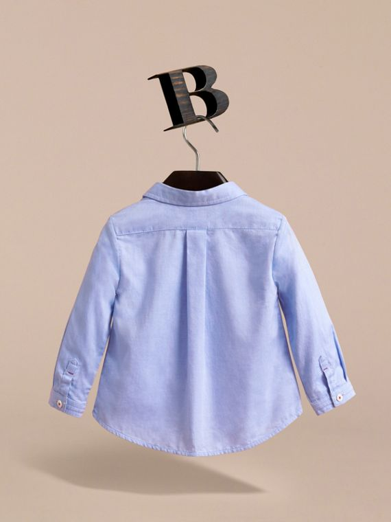 Camicia Oxford in cotone (Blu Fiordaliso) | Burberry - cell image 3