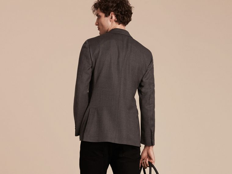 Dark grey Modern Fit Tailored Wool Jacket - cell image 1