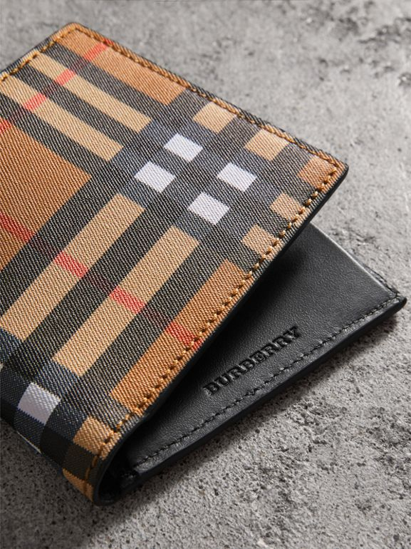 Vintage Check International Bifold Coin Wallet in Black - Men | Burberry - cell image 1